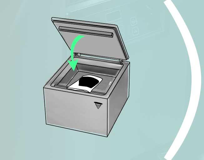 Закрыть крышку вакуумного упаковщика