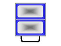 Двойной контейнер рабочего стола запайщика лотков